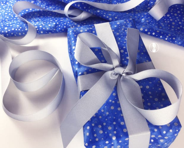 Sparkle Blue Fabric Wrapping