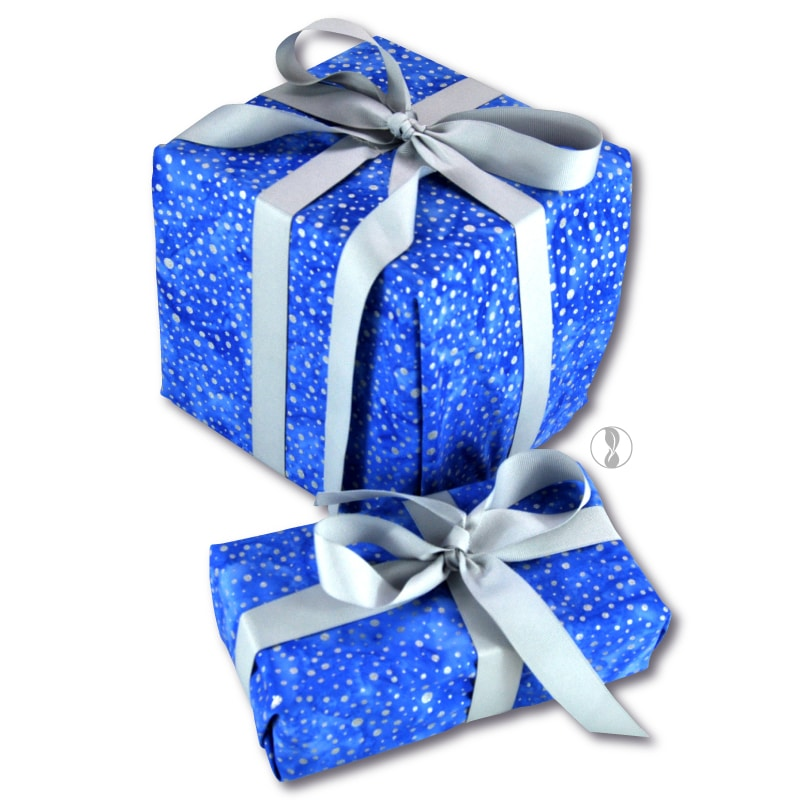 Sparkle Blue Fabric Gift Wrapping