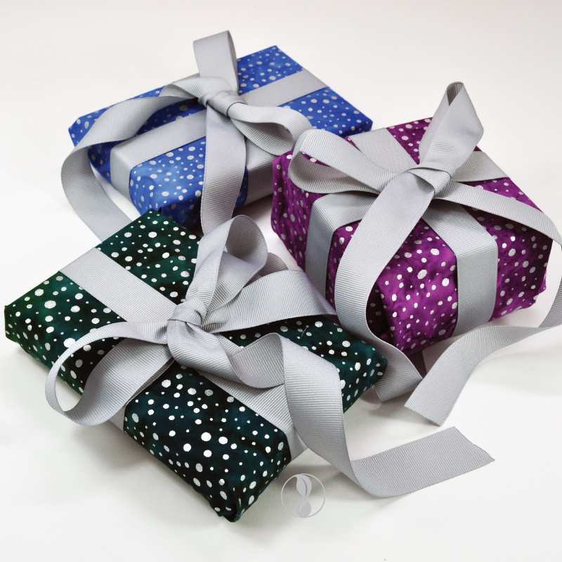 Sparkle Collection Fabric Gift Wrapping