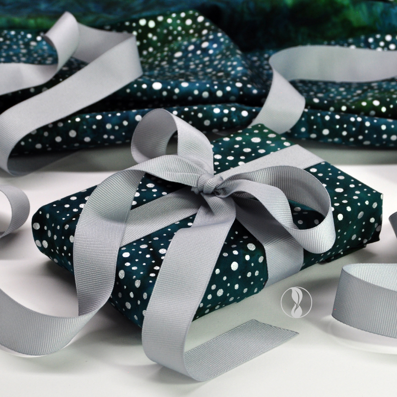 Sparkle Green Fabric Gift Wrapping