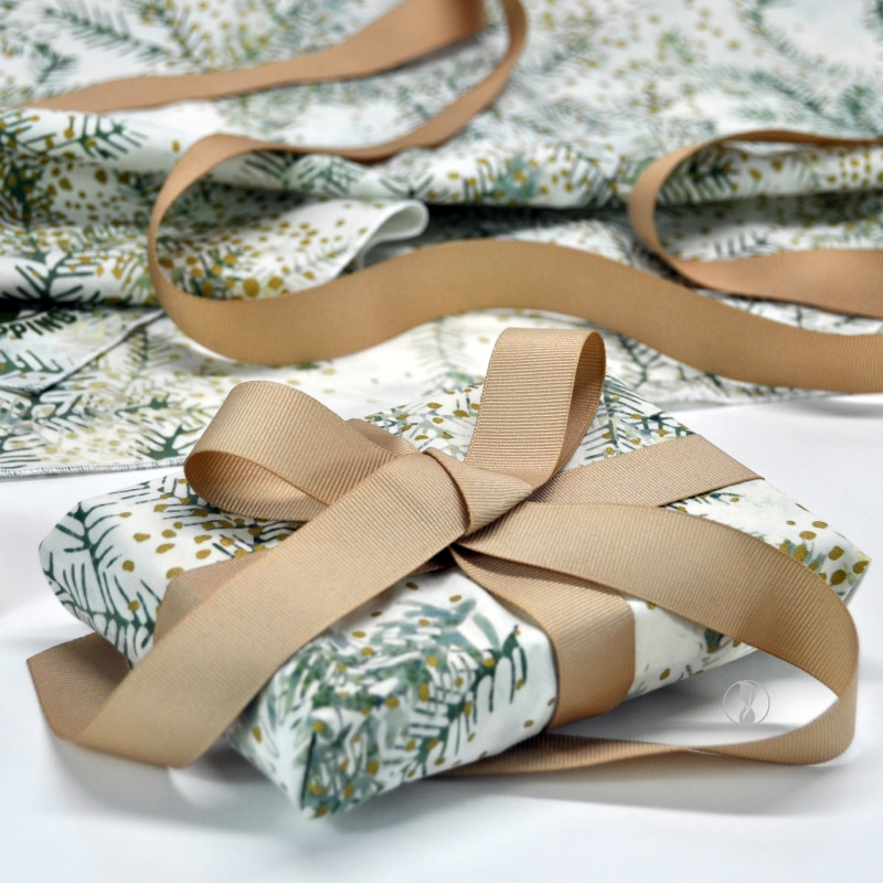 Christmas Boughs with Cream Ribbon