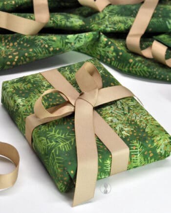 Christmas Forest with Cream Ribbon