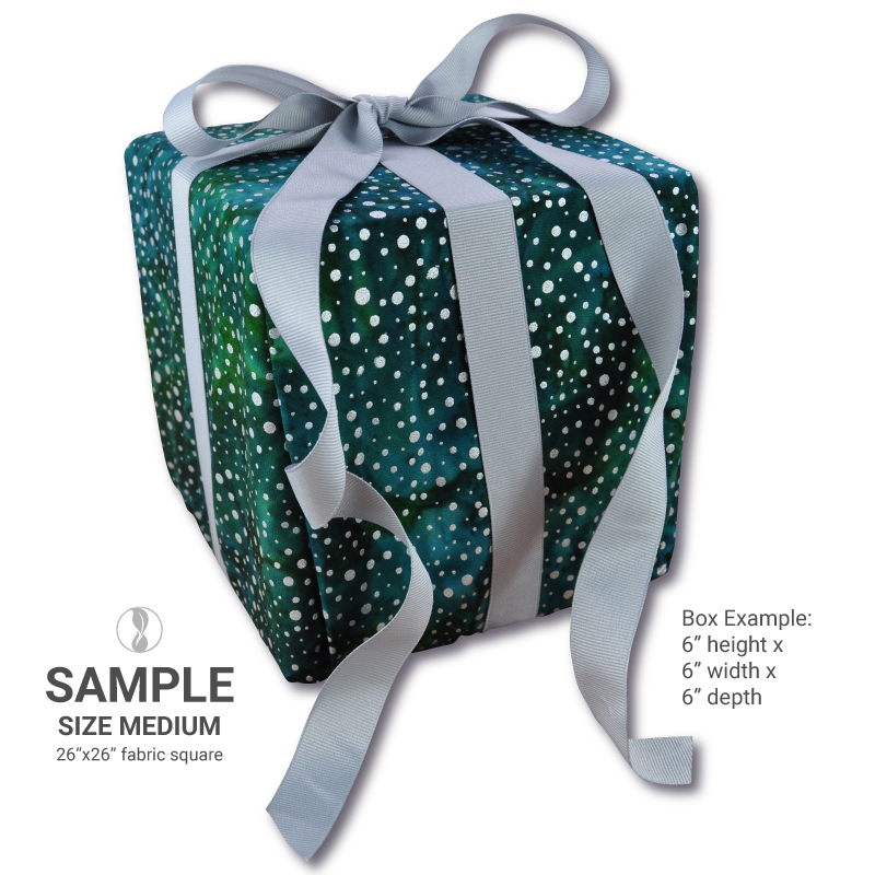 Sparkle Green Medium Fabric Gift Wrapping