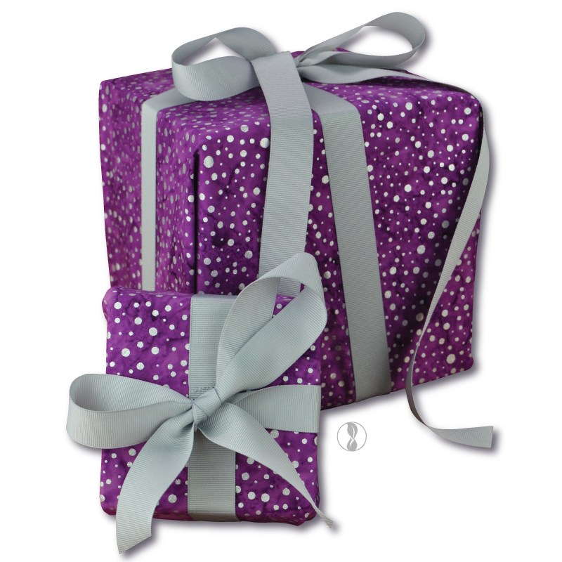 Sparkle Violet Fabric Gift Wrapping