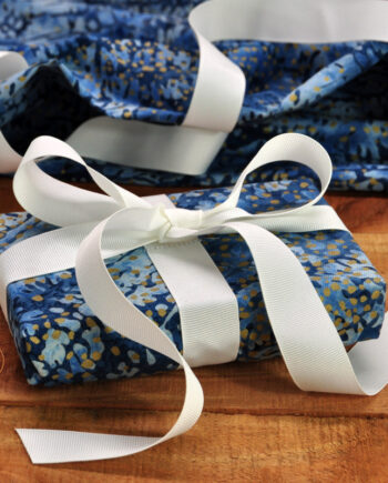 Winter Twilight Fabric Gift Wrapping