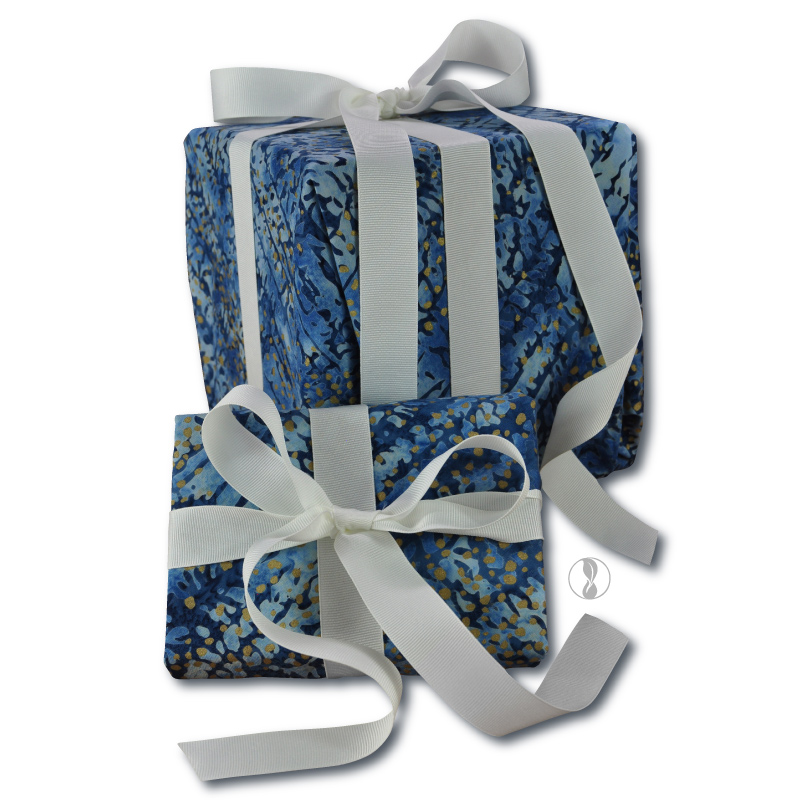 Winter Dawn Fabric Gift Wrapping