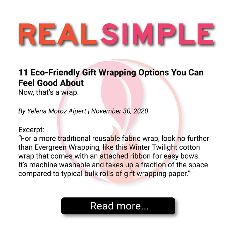 REAL SIMPLE features Evergreen Wrapping